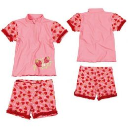 Costum de baie cu filtru UV Playshoes- Strawberry