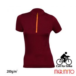Tricou damă merinito, Cut for bike